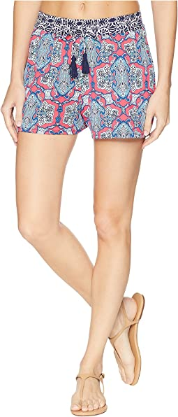 Riviera Tile Pullon Shorts Cover-Up