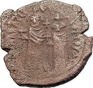 610 TR HERACLIUS & Son H Constantine Genuine 610AD Ancie coin Good