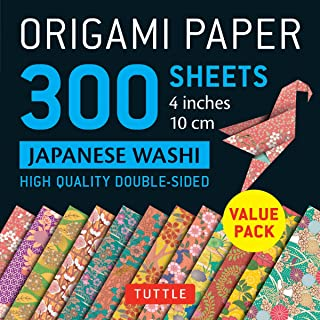 Origami Paper - Japanese Washi Patterns- 4 inch (10cm) 300 sheets: Tuttle Origami Paper: High-Quality Origami Sheets Print...