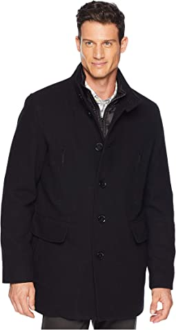 Wool Twill Jacket with Attached Bib