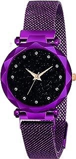 Kiarvi Gallery Royal Purple Dial with Trending Magnetic Metal Strap