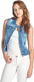 ICONICC Women's Denim Jean Sleeveless Vest