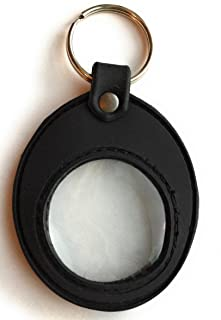 Universal AA Medallion or Coin Holder Keychain Black Soft Silicone