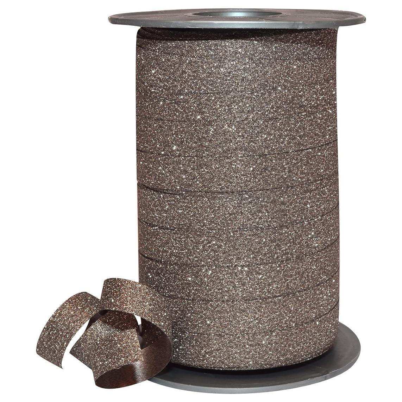 Morex Ribbon 185/9-523 Polyester Glitter Ribbon, 3/8