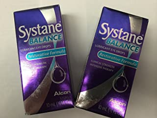 SYSTANE Balance Lubricant Eye Drops,10ml - 1/3 fl oz (Pack of 2)