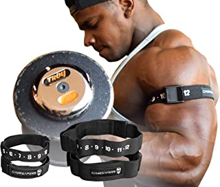 Gymreapers Occlusion Training Bands - Blood Flow Restriction for Arms & Legs (Arms/Legs)…