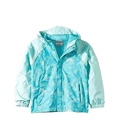 Columbia Kids Fast and Curioustm II Rain Jacket (Little Kids/Big Kids) (Geyser Texture/Geyser Stream Invizza) Girl