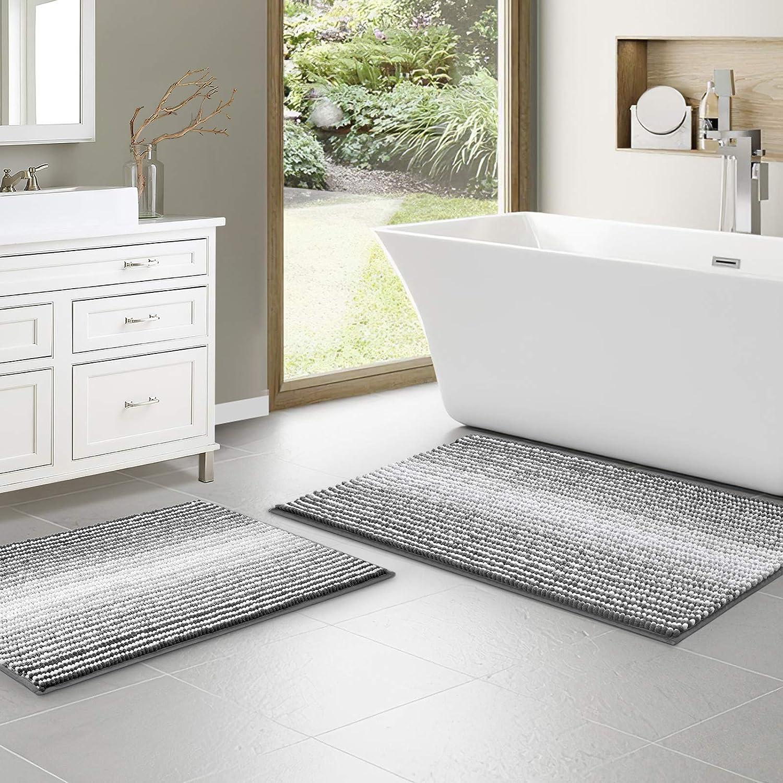 Bathroom Mats Set Chenille Bath Rugs Ranking Seasonal Wrap Introduction TOP15 Shaggy Soft Non Slip Absorb