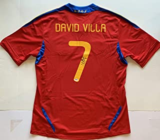 david villa signed jersey