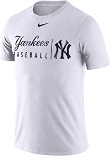 Nike Men's New York Yankees MLB Practice Dri-Fit T-Shirt White