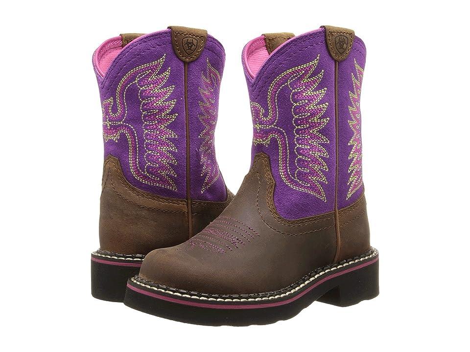 Ariat Kids Fatbaby Thunderbird (Toddler/Little Kid/Big Kid) (Powder Brown/Amethyst) Cowboy Boots