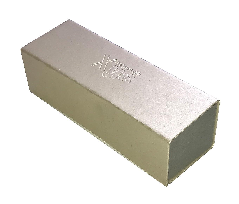 アルミニウム喉が渇いた【Flat Box:Multipurpose folding box】便利でおしゃれな箱 折り畳み式多用途ケース メガネケース ペンケース アクセサリーケース (Pearl White)