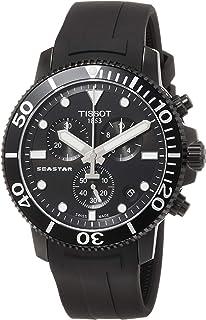 Tissot mens Seastar 660/1000 Stainless Steel Casual Watch Black T1204173705102