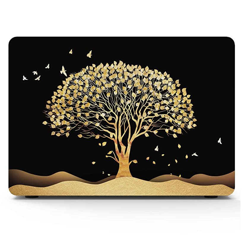 "MacBook 12 Inch Case 2015/2016/2017 Release A1534 with Retina Display, AKIT Tree Pattern Soft Touch Hard Case Shell Cover for Apple MacBook 12"" with Retina Display - Golden Tree"