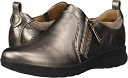 Pebble Metallic Leather/Suede Combi