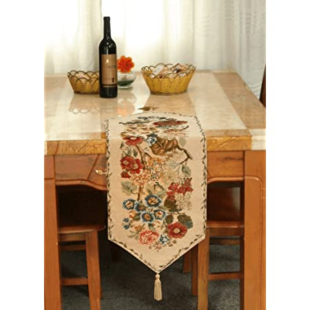 Tache Tapestry Colorful Floral Country Rustic Morning Meadow Table Runner