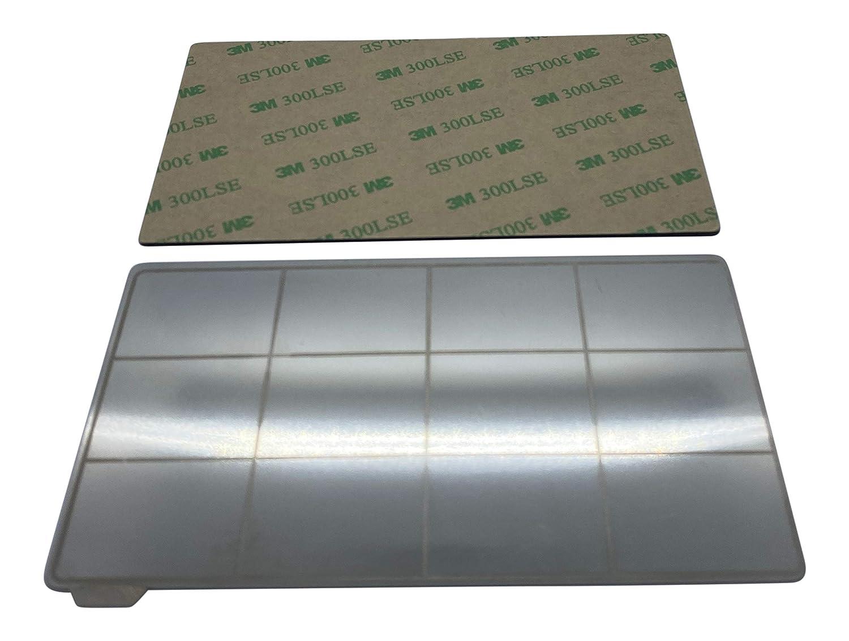 . 135 x 75 mm Plaque en acier /à ressort magn/étique flexible pour imprimante 3D en r/ésine compatible avec Elegoo Mars//Mars Pro//Wanhao D7 3DPLady