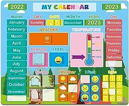 تقویم مغناطیسی روزانه برای کودکان- اسباب بازی آموزشی مغناطیسی 2021 برای کودکان نوپا ، هدیه یادگیری پیش دبستانی برای پسران / دختران / مدرسه / خانه / یخچال ، وسایل آموزشی