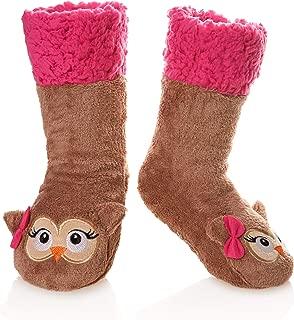 Kid Boy Girl Soft Thick Warm Slipper Socks Winter Fleece Lined Fuzzy Christmas Stocking For Child Toddler Home Socks