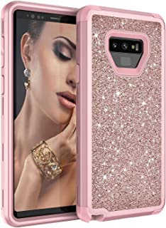 Hicaseer Case for Galaxy Note 9,Ultra-thin Defender Protective Bling Glitter Sparkle Hard Shell Hybrid Shockproof Rubber B...