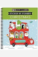 Brain Games - Sticker by Number: Christmas (Kids) Spiral-bound