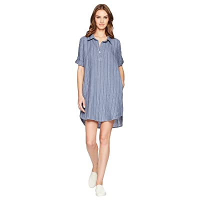 Allen Allen Boxy Pullover Dress (Sailor Blue) Women