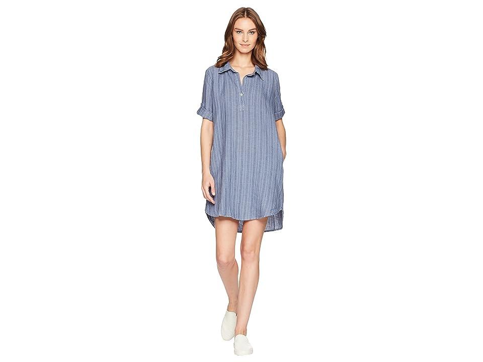 Allen Allen Boxy Pullover Dress (Sailor Blue) Women