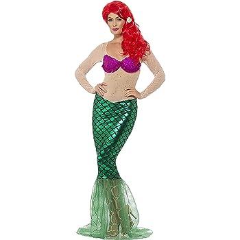 Smiffy s 44637 - Disfraz deluxe de sirena talla M: Amazon.es ...