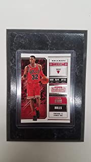 KRIS DUNN CHICAGO BULLS PANINI CONTENDERS NBA 2018 (RED JERSEY) PLAYER CARD MOUNTED ON A 4