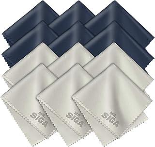 MR.SIGA Chiffons de Nettoyage, Lot de 12, en Microfibre Surchoix pour Lentilles, Lunettes, Ecrans, Tablettes, Glasse, 6 x ...