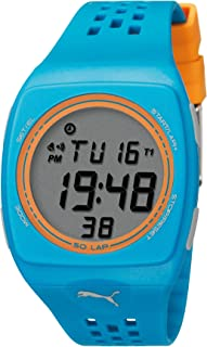 Puma Faas 300 Digital Watch With Lcd Dial Digital Display and Blue Plastic Or Pu Strap Pu910991008, Blue Band, For Unisex