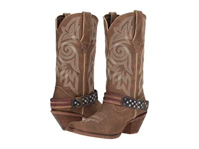 Durango Crush 12 Flag Accessory Strap (Brown/Khaki) Cowboy Boots