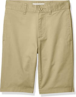Amazon Essentials Boy's Flat Front Uniform Chino Short