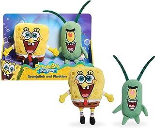 Nickelodeon Spongebob Squarepants 2-Piece Plush Set, 7-Inch Spongebob and 6-Inch Plankton, by Just Play