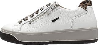 IGI&CO - Sneaker in Pelle Latte con Posteriore Animalier