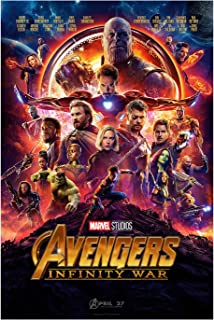 "PosterOffice The Avengers Infinity War (Advance) Movie Poster - Size 24"" X 36"" - This is a Certified Print with Holographic Sequential Numbering for Authenticity."