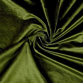 Ben Textiles Inc. Royal Velvet Moss Green Fabric by The Yard