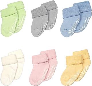 Calcetines Termicos Antideslizantes para Bebé 6 Pares