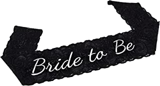 Bachelorette Bride to Be Party Sash - EMBROIDERED Black Lace - Great for Bachelorette Parties and Bridal Showers