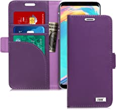 FYY [Genuine Leather Wallet Case for Samsung Galaxy S9 2018, Handmade Flip Folio Wallet Case with Kickstand Card Slots Mag...