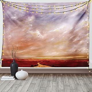 Americana Landscape Decor Tapestry, Mystic Storm Sky Eastern High Sierra Vista Deserts Panorama Art, Wall Hanging for Bedr...
