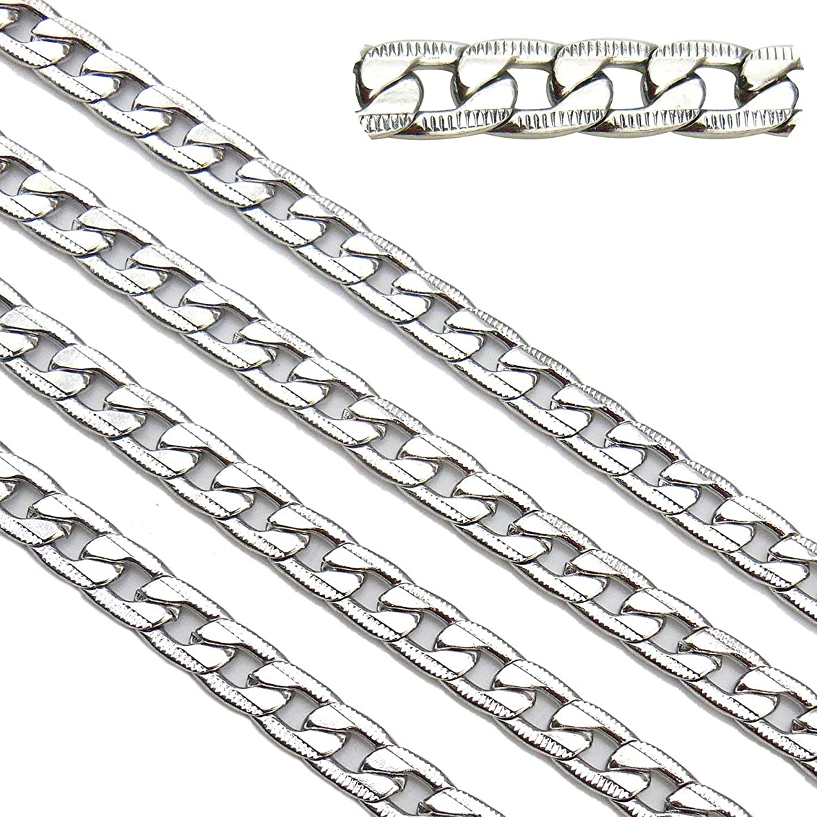 6.6ft Stainless Steel Texture Figaro Link Chains Findings Fit for Jewelry Making &DIY (SC-1004-C)