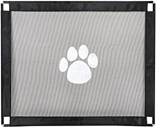 MooMoo Baby Extra Wide Baby Safety Gate Indoor Outdoor Easy Install Magic Pet Dog Mesh Isolated Gauze Door Fence for Home ...