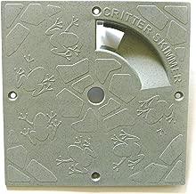 Critter Skimmer 10-Inch Square Pool Skimmer Cover, Gray