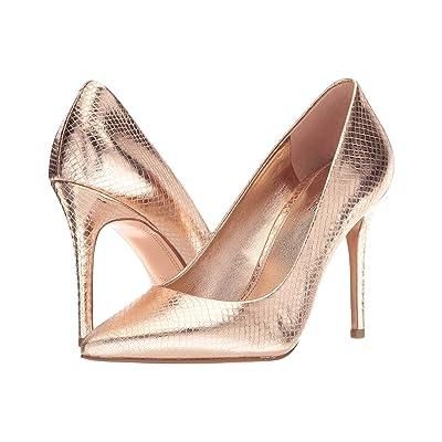 MICHAEL Michael Kors Claire Pump (Soft Pink Shiny Metallic Snake/Metallic Outsole) Women