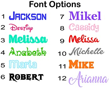 2x Personalised Sticker Name or Text Custom Lettering Vinyl Decal Pink Glitter F