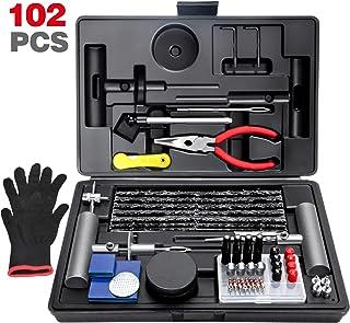 ORCISH 102 Tire Repair Kit,Tire Repair Plug Kit,Heavy Duty Tire Repair with Plugs,Flat Tire Repair Kit,Tire Patch Kits Pun...