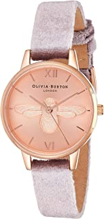 Olivia Burton Womens Quartz Watch, Analog Display and Leather Strap OB16AM160