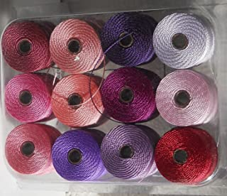 1 X 12 Super-lon #18 Cord Ideal for Stringing Beading Crochet and Micro-macram Jewelry Compatible with Kumihimo Projects S-lon Spring Mix