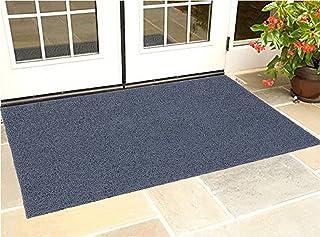 KUBER INDUSTRIES KUBMART005016 Rubber 1 Piece Large Size Door Mat 24x36'', Grey, 60x90 cm
